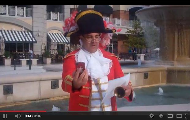 VIDEO: Rod Fitzwell Royal Town Crier