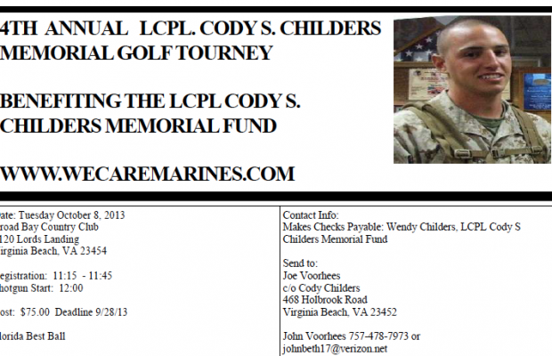 4th Annual LCPL. Cody S. Childers Memorial Golf Tournery