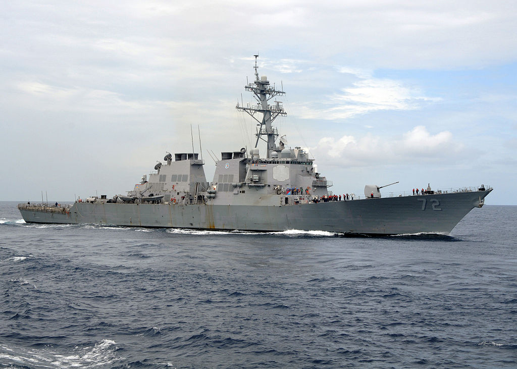 US_Navy_080718-N-1082Z-001_The_guided-missile_destroyer_USS_Mahan_(DDG_72)_steams_in_the_Atlantic_Ocean_during_the_Iwo_Jima_Expeditionary_Strike_Group_composite_unit_training_exercise_(COMPTUEX)