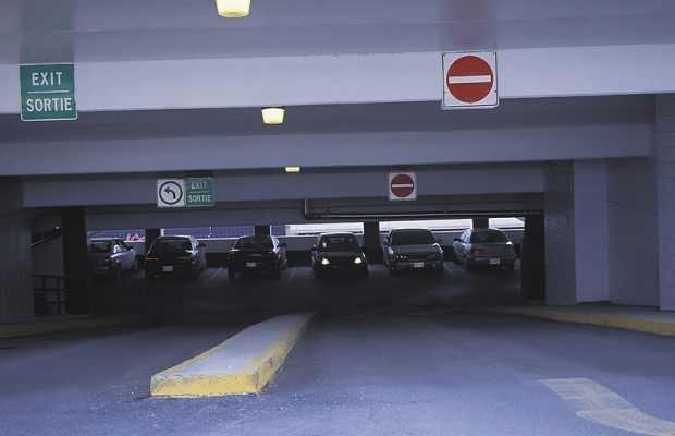 80 Year Old Woman hits 11 cars exiting parking garage