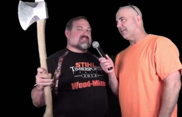 Rod Fitzwell interviews STIHL competitor Mike Slingerland