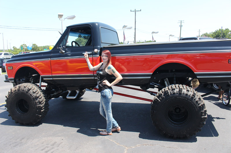 photos rock girl candidates at tricked out truck wnor fm99