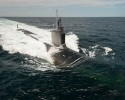 150609-O-ZZ999-110 ATLANTIC OCEAN (June 9, 2015) The Virginia-class attack submarine  Pre-Commissioning Unit (PCU) John Warner (SSN 785) conducts sea trials in the Atlantic Ocean. (U.S. Navy photo courtesy of Huntington Ingalls Industries by Chris Oxley/Released)